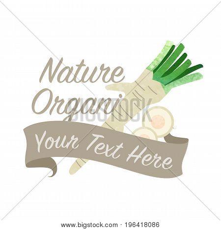 Colorful Watercolor Texture Vector Nature Organic Vegetable Banner Horseradish