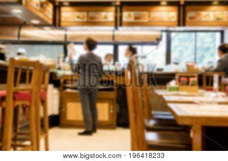 blurry background of A la Carte Restaurant.