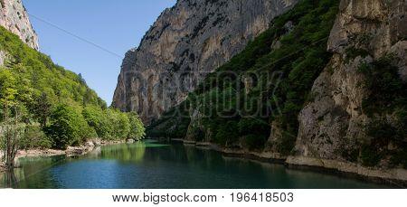 Italy gola del furlo - candigliano river near urbino