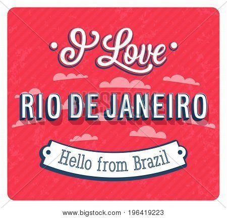 Vintage Greeting Card From Rio De Janeiro - Brazil.