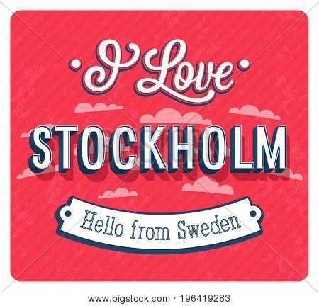 Vintage Greeting Card From Stockholm - Sweden.