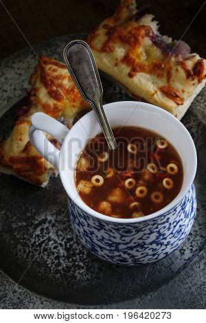 Minestrone Soup And Focaccia