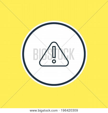 Vector Illustration Of Attention Outline. Beautiful Necessity Element Also Can Be Used As Exclamation  Element.