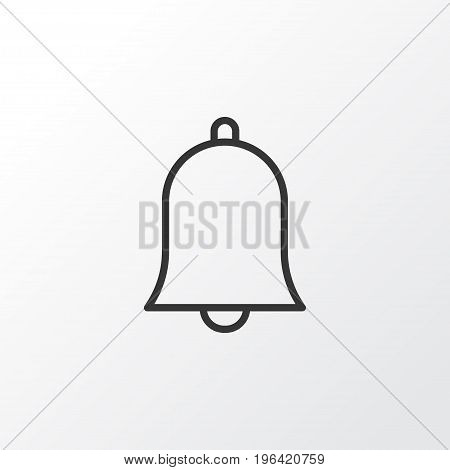 Alarm Icon Symbol. Premium Quality Isolated Bell Element In Trendy Style.