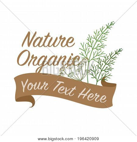 Colorful Watercolor Texture Vector Nature Organic Vegetable Banner Dill Flower Fennel Spice