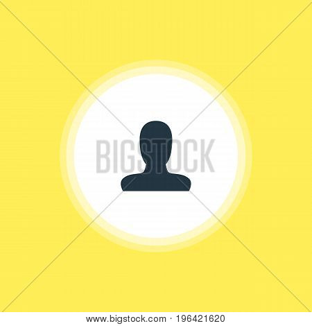 Beautiful Online Element Also Can Be Used As Account Element. Vector Illustration Of User Icon.