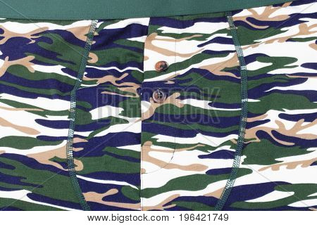 image of one Camouflage Printed Shorts at day