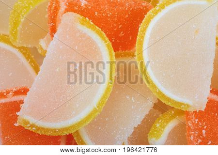 image of many Multicolor Fruit Jelly at day