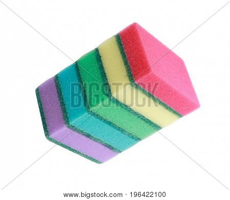 image of many foam rubber sponge at day