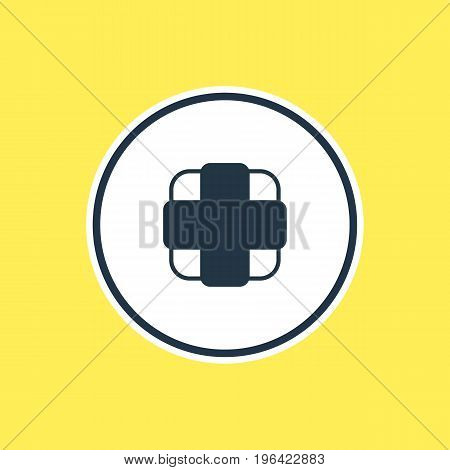 Vector Illustration Of Medicine Outline. Beautiful Medical Element Also Can Be Used As Pharmaceutical Element.