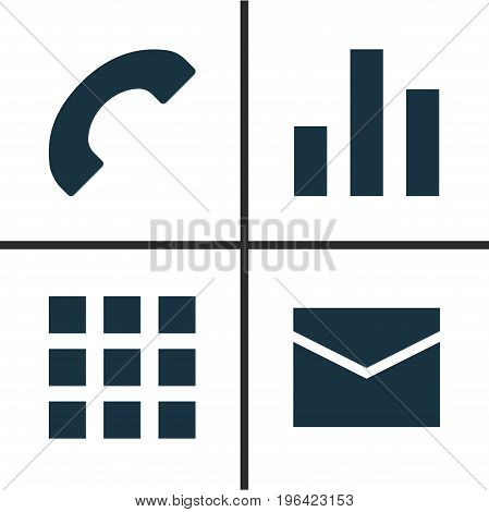 User Icons Set. Collection Of Letter, Application, Phone And Other Elements
