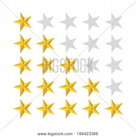 5 star rating icon.  Badge for website or app. Vector stock.