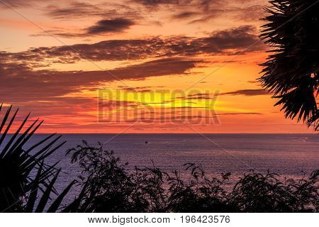Dramatic Sunset In Phuket, Thailand