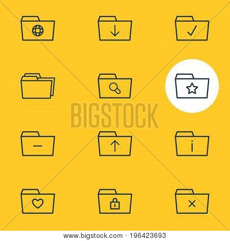 Editable Pack Of Remove, Submit, Done And Other Elements. Vector Illustration Of 12 Document Icons.