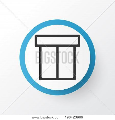 Premium Quality Isolated Box Element In Trendy Style. Package Icon Symbol.