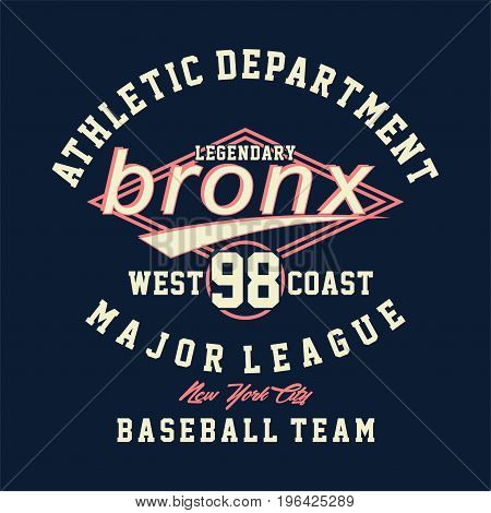graphic design athletic department legendary bronx for shirt and print