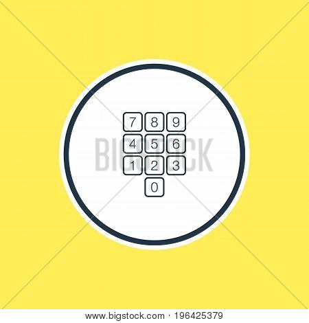 Beautiful Laptop Element Also Can Be Used As Number Keypad Element. Vector Illustration Of Numpad Outline.