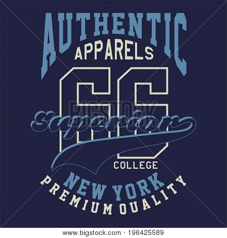 graphic design AUTHENTIC APPARELS SUPERIOR for shirt and print
