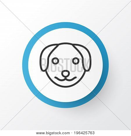 Dog Icon Symbol. Premium Quality Isolated Puppy Element In Trendy Style.