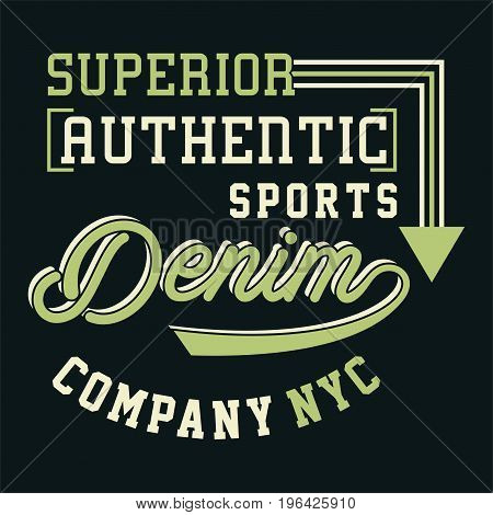 graphic design SUPERIOR AUTHENTIC SPORTS for shirt and print