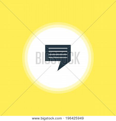 Vector Illustration Of Message Icon. Beautiful Online Element Also Can Be Used As Chat Element.
