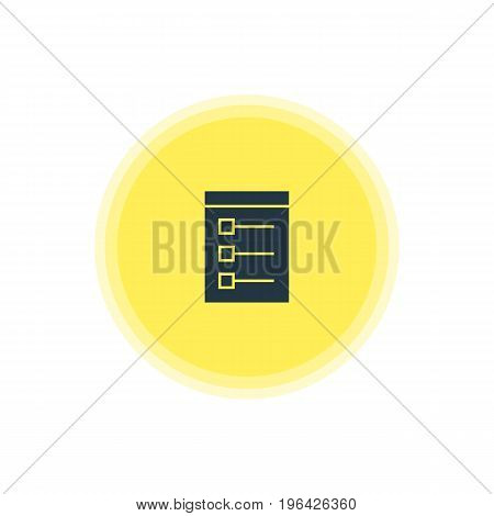 Beautiful Online Element Also Can Be Used As Board Element. Vector Illustration Of Checklist Icon.