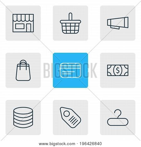 Editable Pack Of Market, Money, Coins And Other Elements. Vector Illustration Of 9 Trading Icons.