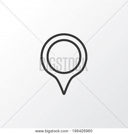 Premium Quality Isolated Marker Element In Trendy Style. Pinpoint Icon Symbol.