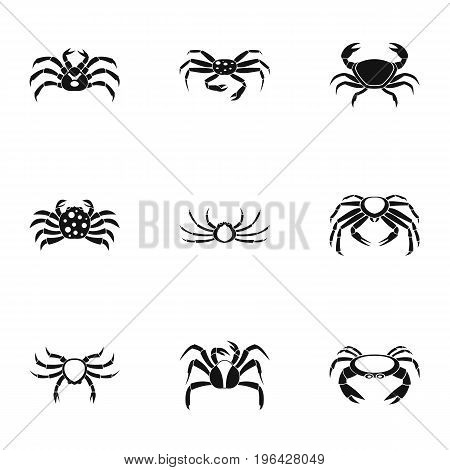 parts icons set. Simple set of 9 overland crab vector icons for web isolated on white background