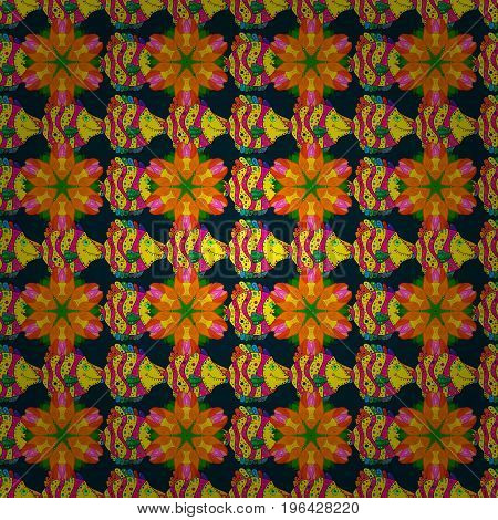 Funny fish outline pattern on colored background.