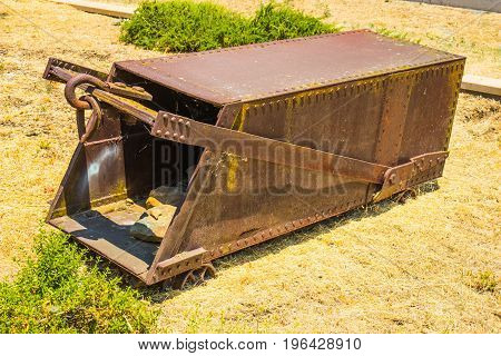 Vintage Mining Ore Cart Carrier Used In Mining Operations