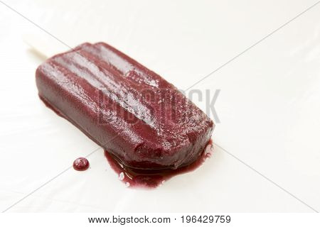 Melting Grape Popsicle