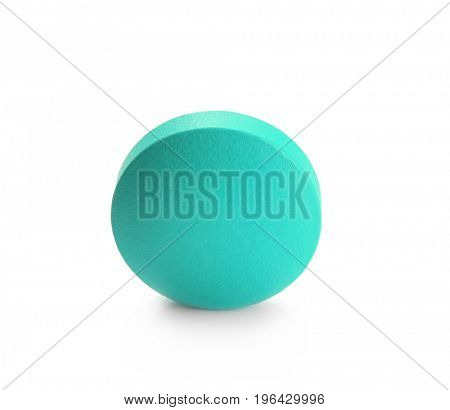 Health care concept. Colorful pill on white background