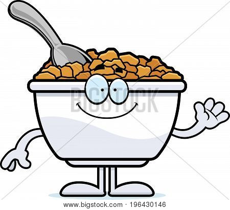 Cartoon Cereal Waving