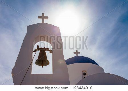 Ayia Thekla (saint Thecla) Orthodox Church Near Of Ayia Napa And Cavo Greco, Cyprus Island, Mediterr