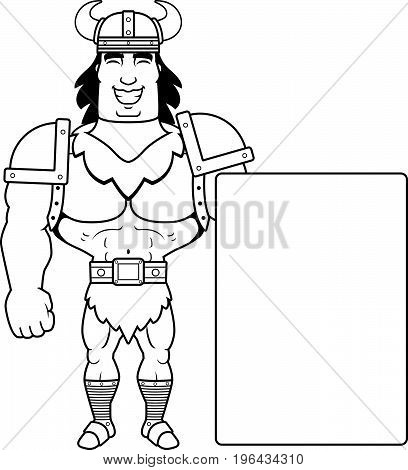 Cartoon Barbarian Sign
