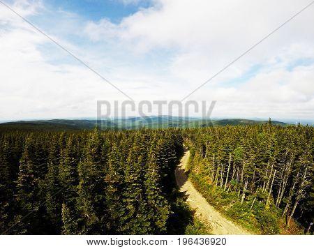 Canadian landscape from a big Regional Park: Massif Du Sud, Quebec, Canada.