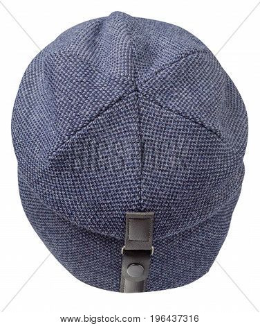 Hat Isolated On White Background .knitted Hat . Blue Hat