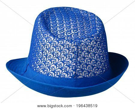 Hat With A Brim .hat Isolated On White Background .j Blue Hat