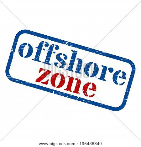 Offshore zone Stamp Grunge Sign Vector Illustration