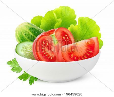 Isolated Vegetables In A Bowl