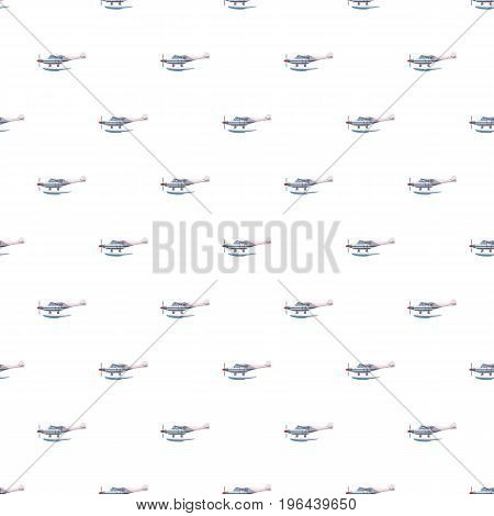 Hydroplane pattern seamless repeat in cartoon style vector illustration