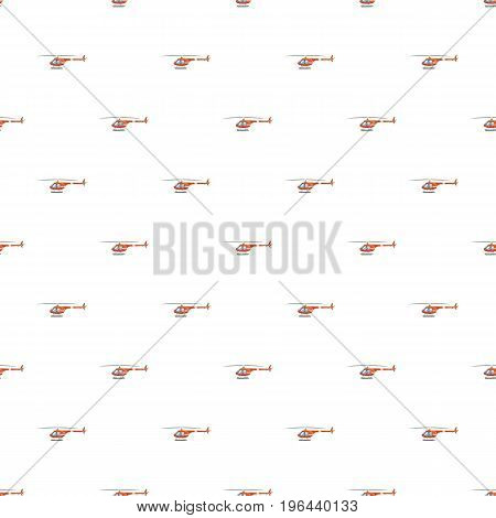 Helicopter pattern seamless repeat in cartoon style vector illustration