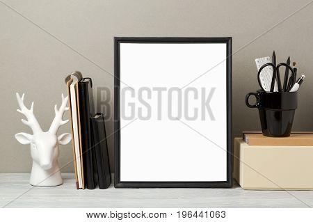 Frame Mock Up On Table