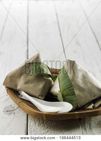nasi lemak package on the basket