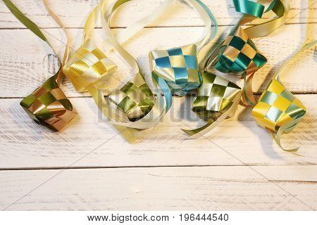 decoration ketupat on white background