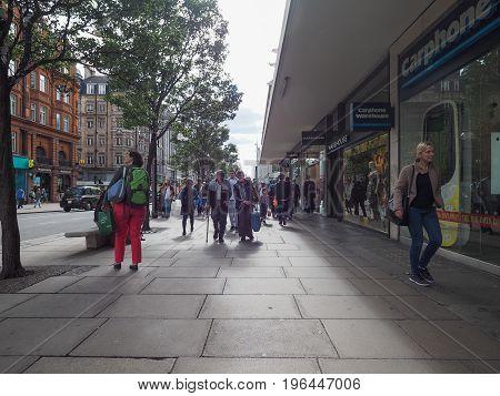 People In Oxford Street In London