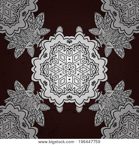 Brown back. Vector oriental ornament frame with decorative colored foil. Design for fashion banner label bridal shower or wedding invitation.
