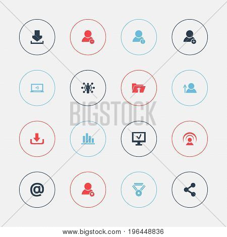 Set Of 16 Editable Global Icons. Includes Symbols Such As Line Chart, Transfer, Log In And More