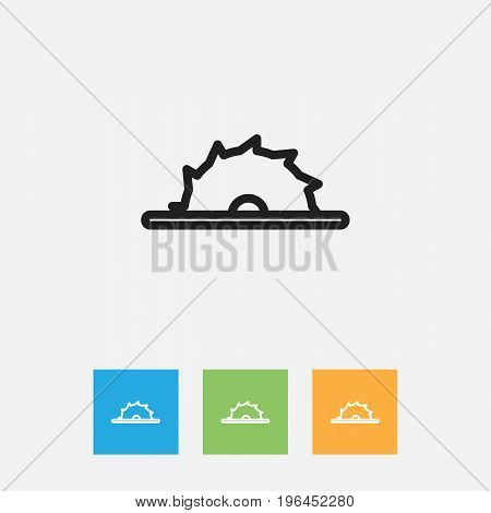 Vector Illustration Of Tools Symbol On Saw Outline